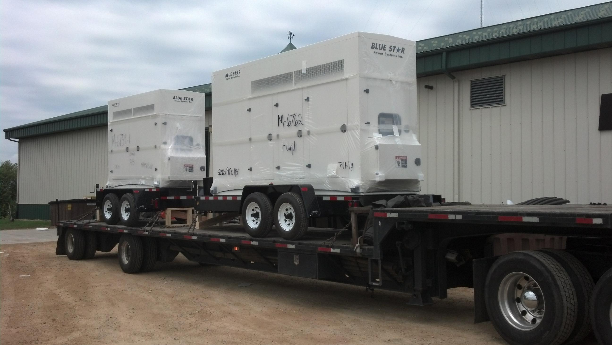 Mid Florida Diesel Delivers Blue Star Power Systems to Pinellas County