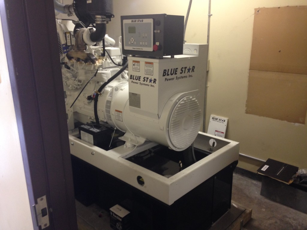 Mid Florida Projects: 60 KW Blue Star Diesel Generator installed