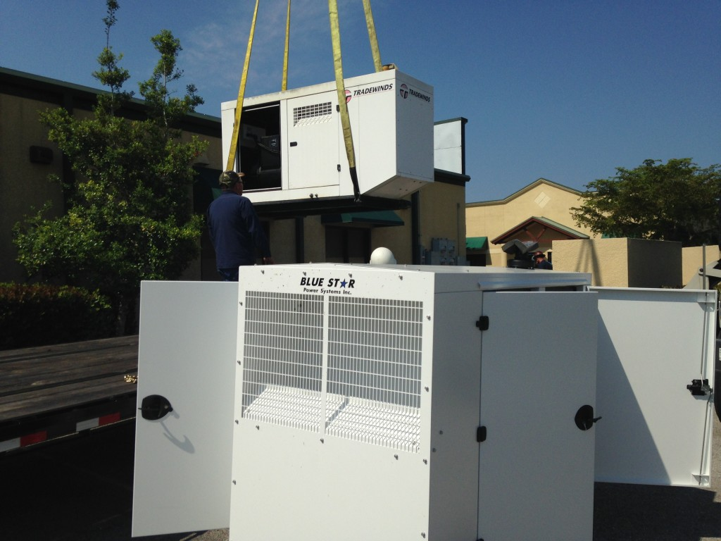 Mid Florida Diesel installs a New Blue Star Power Systems Diesel Generator