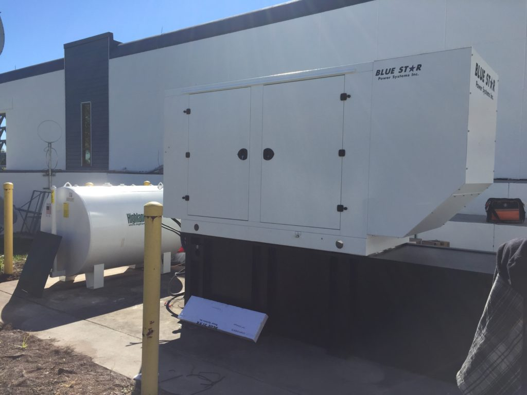 Mid Florida Diesel sold and installed a New 125KW Blue Star generator