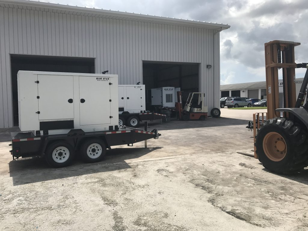Mid Florida Diesel Delivered Blue Star Generators to Seacoast Utility Authority