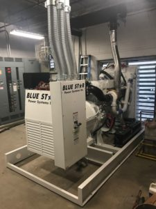 Install a new VD500KW Blue Star Power Systems generator