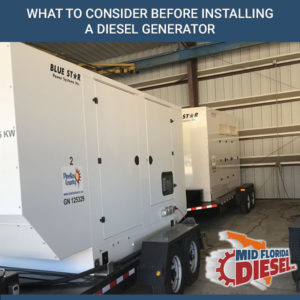 What To Consider Before Installing A Diesel Generator