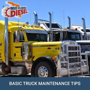 Basic Truck Maintenance Tips