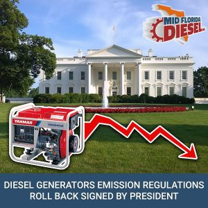 Diesel Generators Emission Regulations Roll Back Signed By President